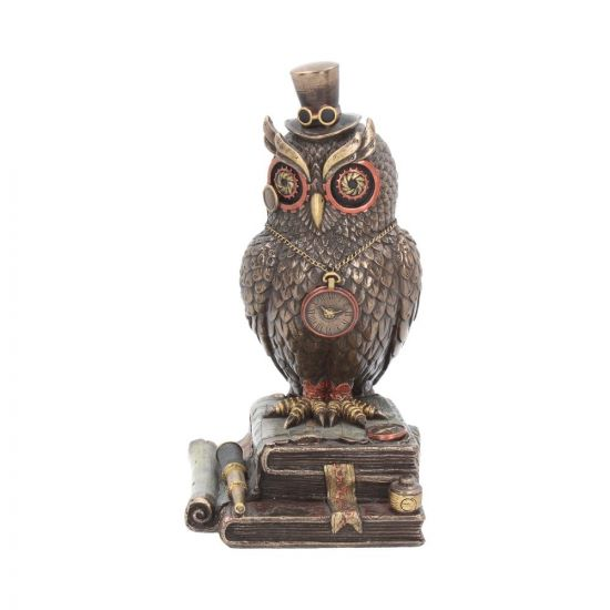 Time Wise 20.5cm Owls Steampunk