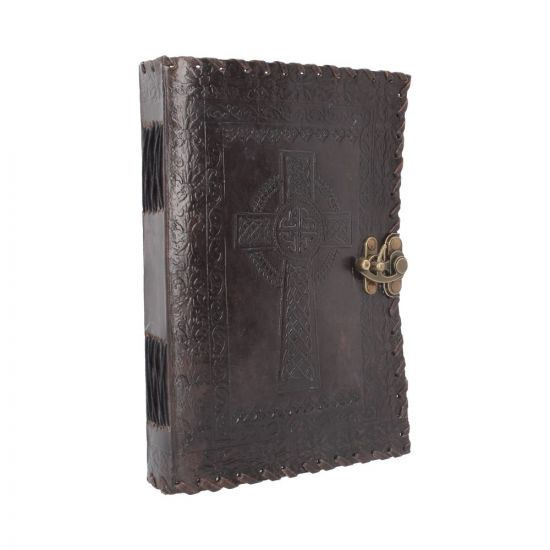 Celtic Cross Leather Journal 25 x 18cm Witchcraft & Wiccan Witchcraft & Wiccan Premium Range