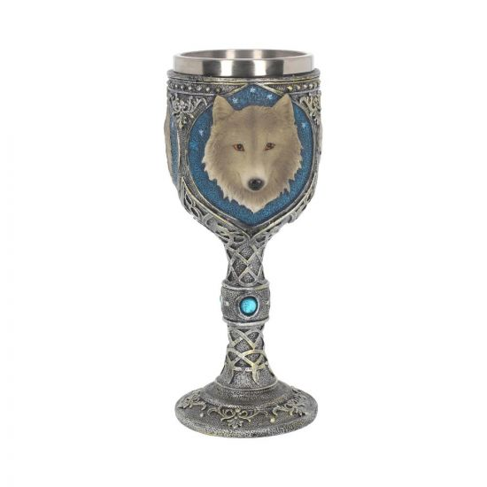 Lone Wolf Goblet 19.5cm Wolves All Animals Value Range